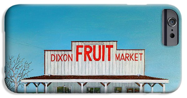 Dixon iPhone Cases - Dixon Fruit Market 1992 iPhone Case by Wingsdomain Art and Photography