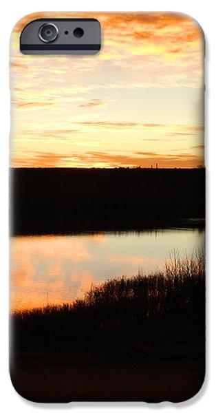 Dixon Reservoir Sunrise iPhone Case by Sara  Mayer