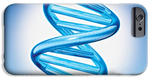 Genetic iPhone Cases - DNA Double Helix iPhone Case by Marc Phares and Photo Researchers