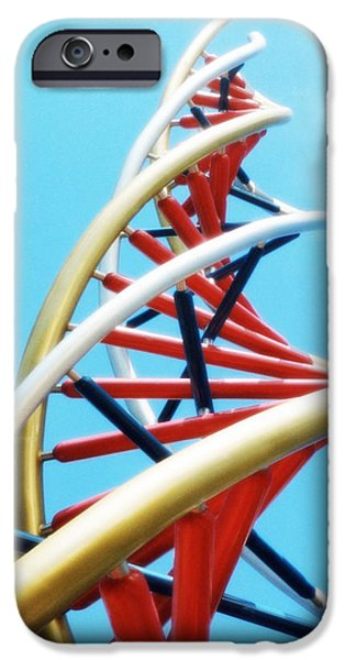 Meshed iPhone Cases - Dna Sculpture iPhone Case by Victor Habbick Visions