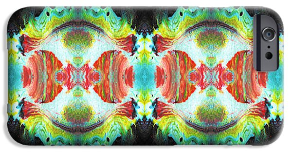 Abstract Digital Art iPhone Cases - Dna iPhone Case by Sumit Mehndiratta