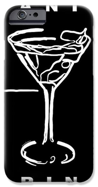 Do Not Panic - Drink Martini - Black iPhone Case by Wingsdomain Art and Photography