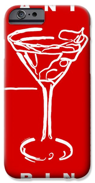 Do Not Panic - Drink Martini - Red iPhone Case by Wingsdomain Art and Photography