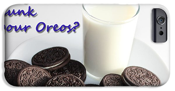 Favorite Cookies iPhone Cases - Do You Dunk Your Oreos iPhone Case by Barbara Griffin