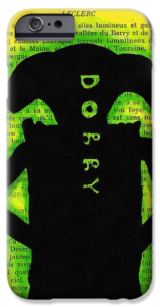Mix Medium Drawings iPhone Cases - Dobby Silhouette iPhone Case by Jera Sky