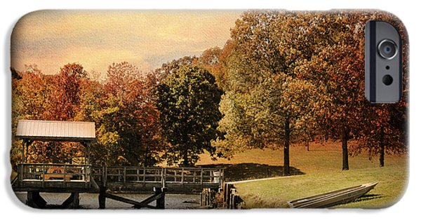 Autumn Scenes iPhone Cases - Dock for Two iPhone Case by Jai Johnson