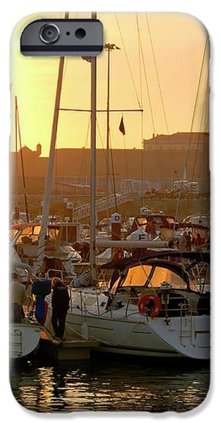 Docked Yachts iPhone Case by Carlos Caetano