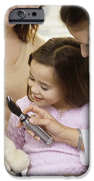 Doctor And Child Playing iPhone Case by Adam Gault