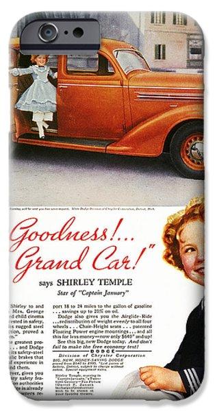 Endorsement iPhone Cases - Dodge Automobile Ad, 1936 iPhone Case by Granger