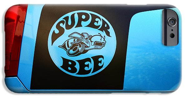 Super Bee iPhone Cases - Dodge Charge Super Bee logo  iPhone Case by Paul Ward