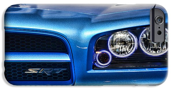 Super Bee iPhone Cases - Dodge Charger Front iPhone Case by Paul Ward