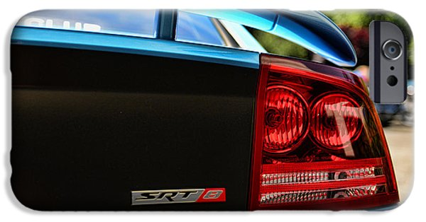 Super Bee iPhone Cases - Dodge Charger SRT8 rear iPhone Case by Paul Ward