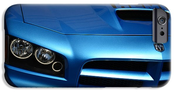 Super Bee iPhone Cases - Dodge Charger SRT8 Super Bee iPhone Case by Paul Ward