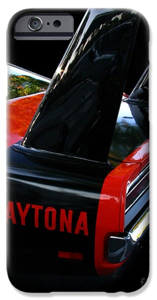Fat Tire iPhone Cases - Dodge Daytona Fin 02 iPhone Case by Peter Piatt