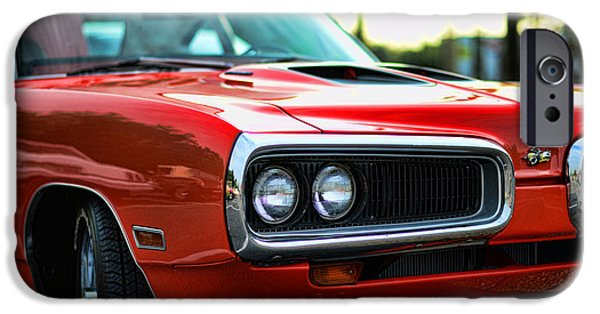 Coronet iPhone Cases - Dodge Super Bee classic red iPhone Case by Paul Ward
