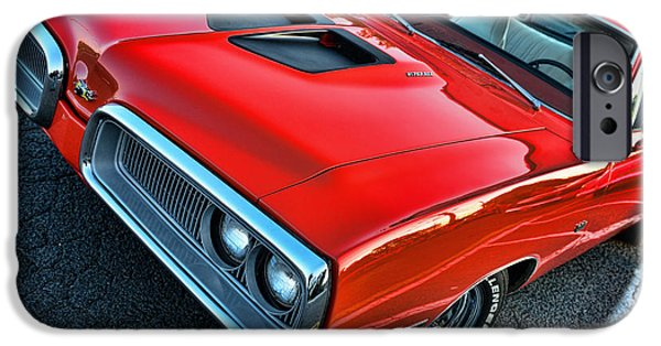 Coronet iPhone Cases - Dodge Super Bee in Red iPhone Case by Paul Ward