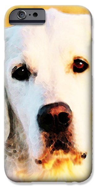 Furry iPhone Cases - Dog Art - Golden Moments iPhone Case by Sharon Cummings