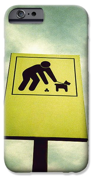 Dog Fouling Sign iPhone Case by Kevin Curtis
