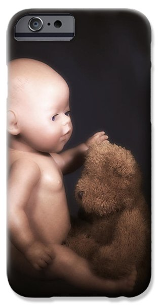 doll and bear iPhone Case by Joana Kruse