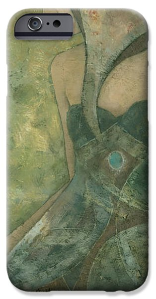 Original Art Mixed Media iPhone Cases - Dolores iPhone Case by Steve Mitchell
