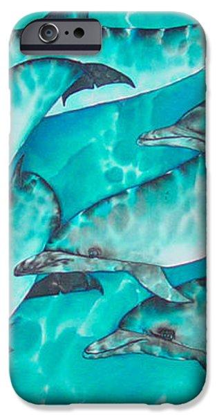 Dolphin Pod iPhone Case by Daniel Jean-Baptiste