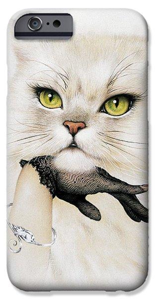 Felis iPhone Cases - Domestic Cat, Conceptual Image iPhone Case by Smetek