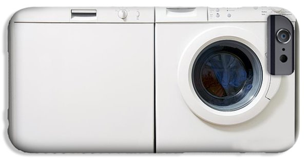 Washing Machine iPhone Cases - Domestic Dishwasher And Washing Machine iPhone Case by Johnny Greig
