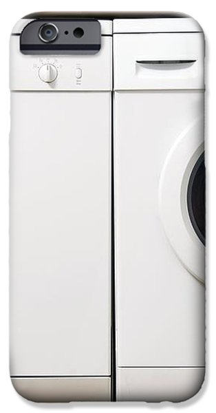 Domestic Dishwasher And Washing Machine iPhone Case by Johnny Greig