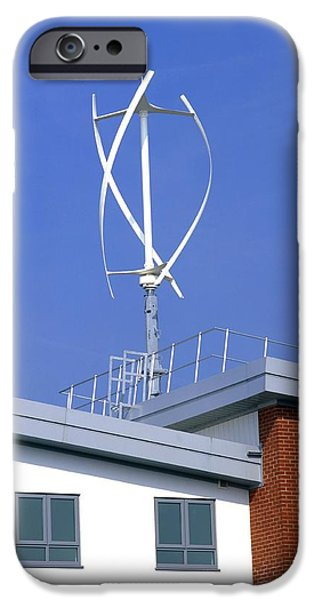 Milton Keynes iPhone Cases - Domestic Micro Wind Turbine iPhone Case by Martin Bond