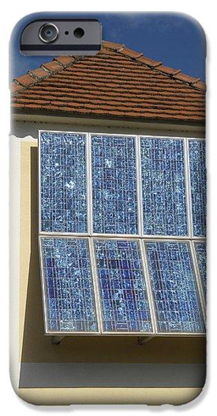 Domestic Solar Panel iPhone Case by Friedrich Saurer