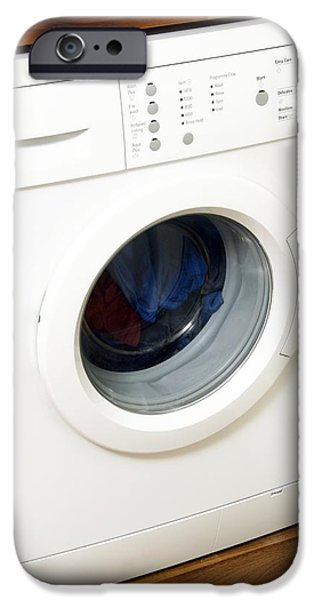 Washing Machine iPhone Cases - Domestic Washing Machine iPhone Case by Johnny Greig