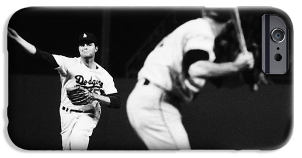 Mounds iPhone Cases - Don Drysdale (1936-1993) iPhone Case by Granger