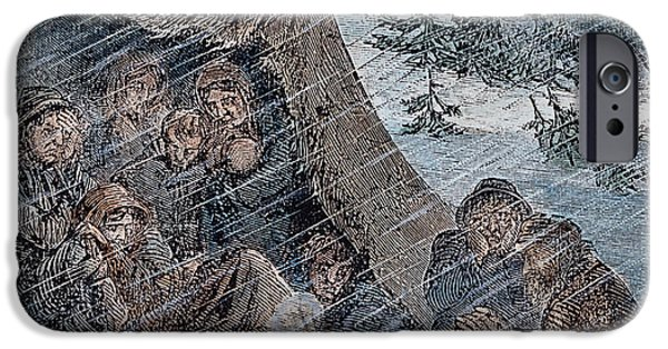 Destiny iPhone Cases - Donner Party, 1846-47 iPhone Case by Granger