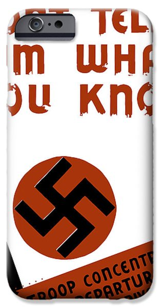 Caricature Mixed Media iPhone Cases - Dont tell him what you know iPhone Case by War Is Hell Store