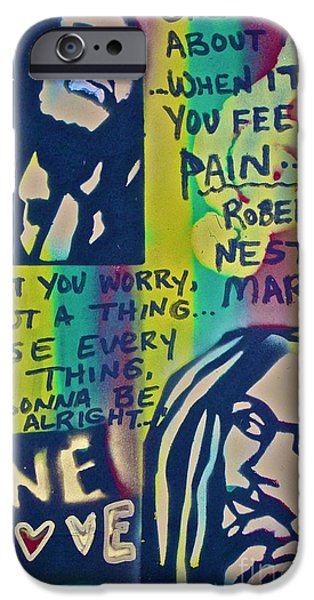 Conscious Paintings iPhone Cases - Dont You Worry iPhone Case by Tony B Conscious