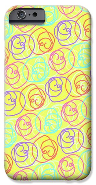 Louisa Knight iPhone Cases - Doodles iPhone Case by Louisa Knight