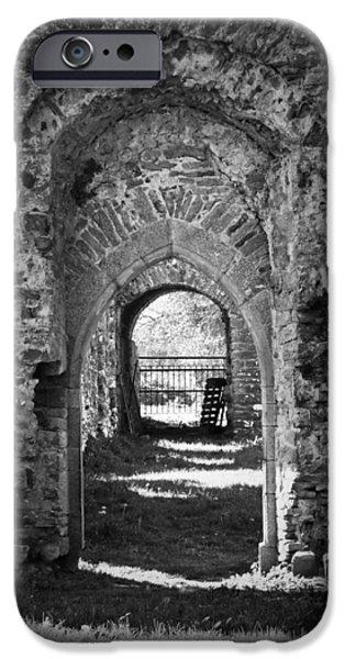 Irish Photographs iPhone Cases - Doors at Ballybeg Priory in Buttevant Ireland iPhone Case by Teresa Mucha