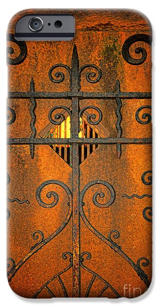 Final Resting Place Photographs iPhone Cases - Doorway to Death iPhone Case by Paul Ward