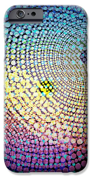 dots circles iPhone Case by ATIKETTA SANGASAENG