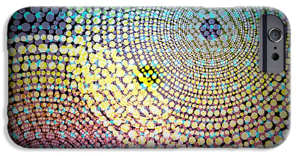 Astral iPhone Cases - Dots Circles iPhone Case by Atiketta Sangasaeng