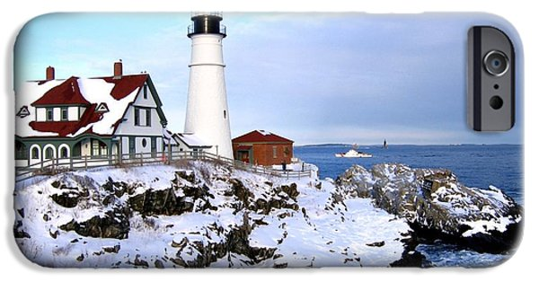 New England Lighthouse iPhone Cases - Double Protection iPhone Case by Lloyd Alexander
