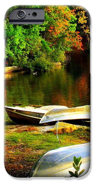 Down By the Riverside iPhone Case by KAREN WILES