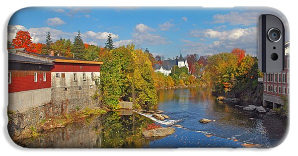 Fall In New England iPhone Cases - Down River iPhone Case by Joann Vitali