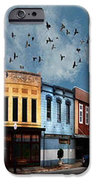 Downtown Bryan Texas 360 Panorama iPhone Case by Nikki Marie Smith