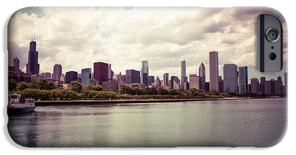 Chicago iPhone Cases - Downtown Chicago Skyline Lakefront iPhone Case by Paul Velgos