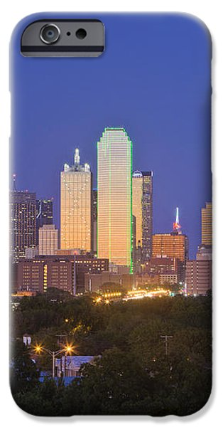 Downtown Dallas Skyline at Dusk iPhone Case by Jeremy Woodhouse