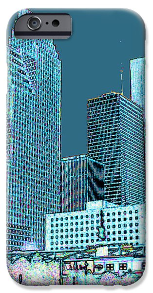 Downtown Houston iPhone Case by Fred Jinkins