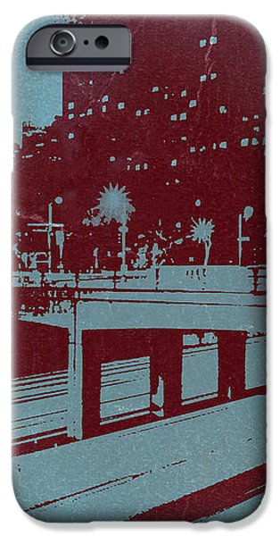 Downtown LA iPhone Case by Naxart Studio