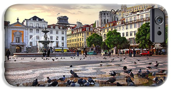 Ancient iPhone Cases - Downtown Lisbon iPhone Case by Carlos Caetano