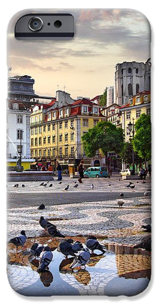 Downtown Lisbon iPhone Case by Carlos Caetano